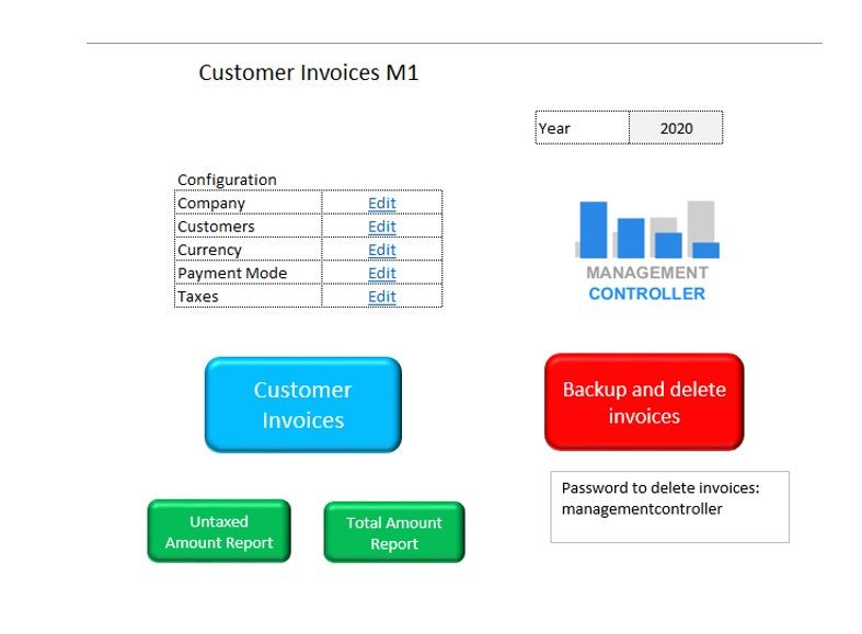 Customer Invoices Free Excel Template