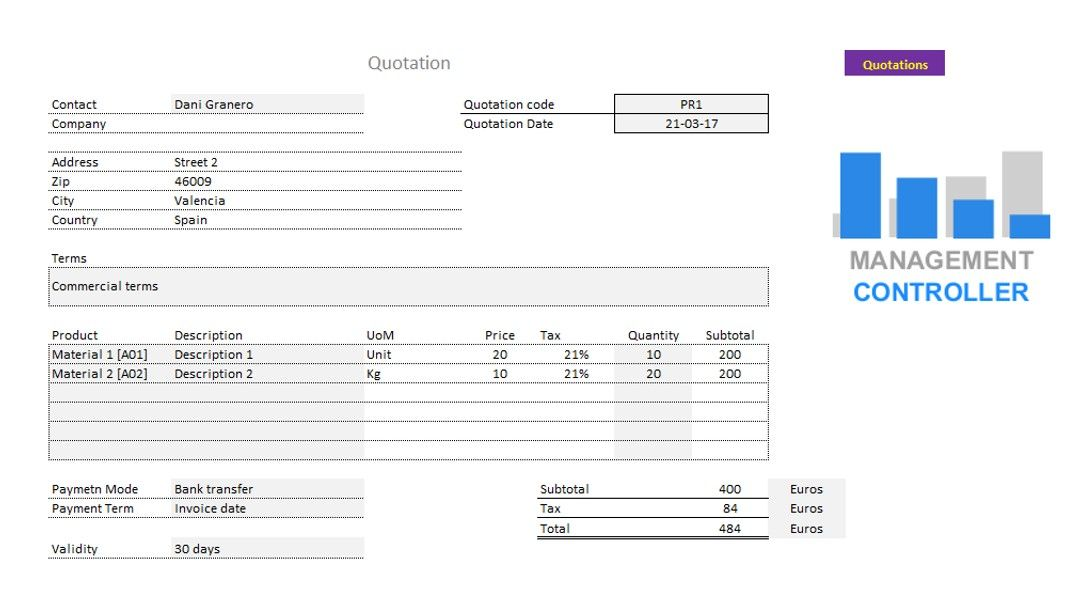 CRM M1 Free Excel Template