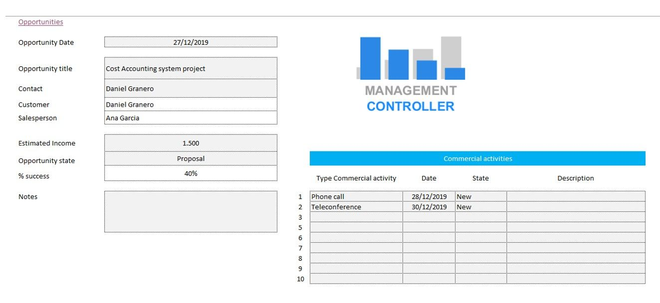 CRM M2 Free Excel Template