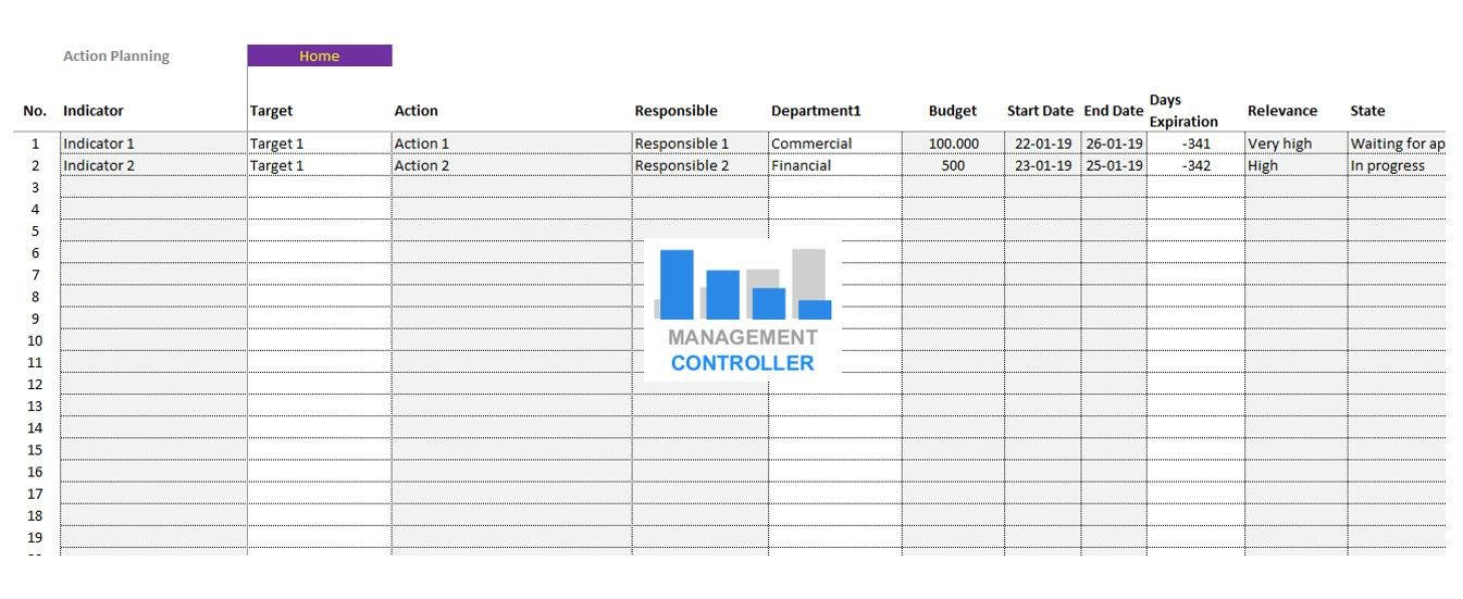 Balanced Scorecard M1 Excel Template