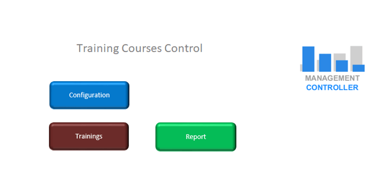 Training Courses Control Free Excel Template