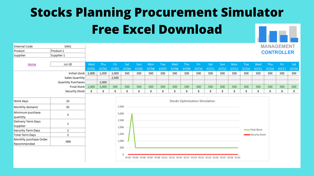 Stocks Planning Procurement Simulator Free Excel Download