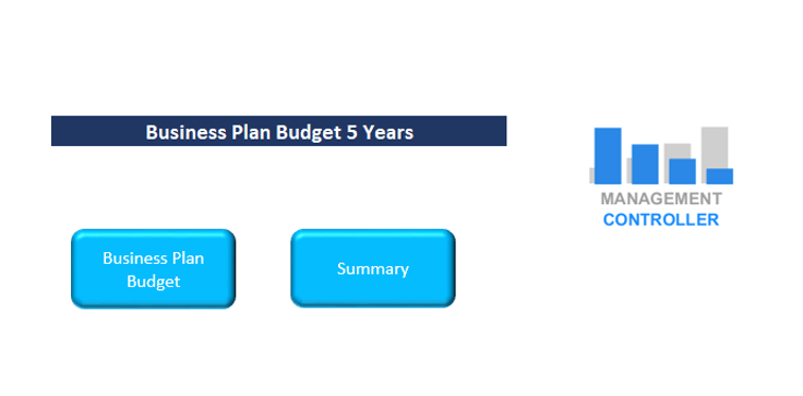 Business Plan Budget 5 Years M1 Free Excel Template