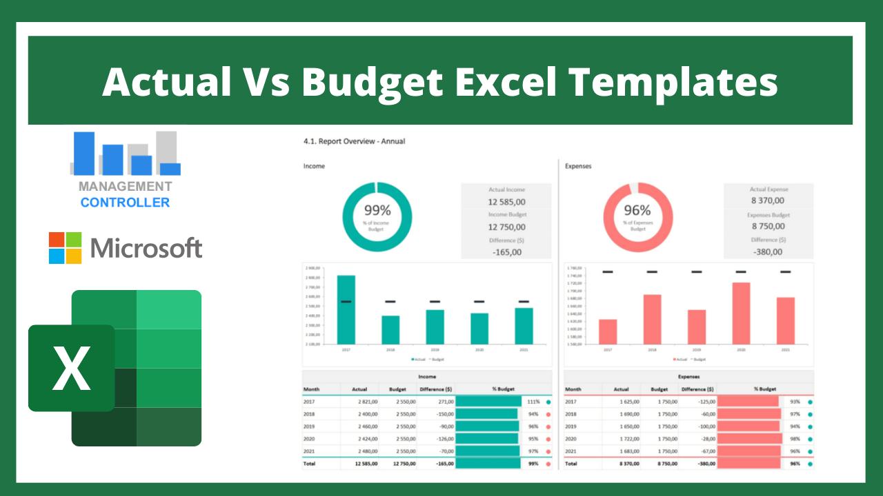 Actual Vs Budget Excel Templates