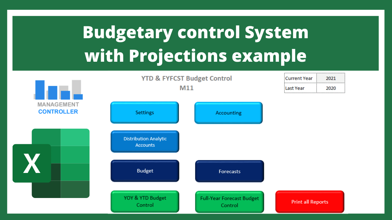 Budgetary control System with Projections example