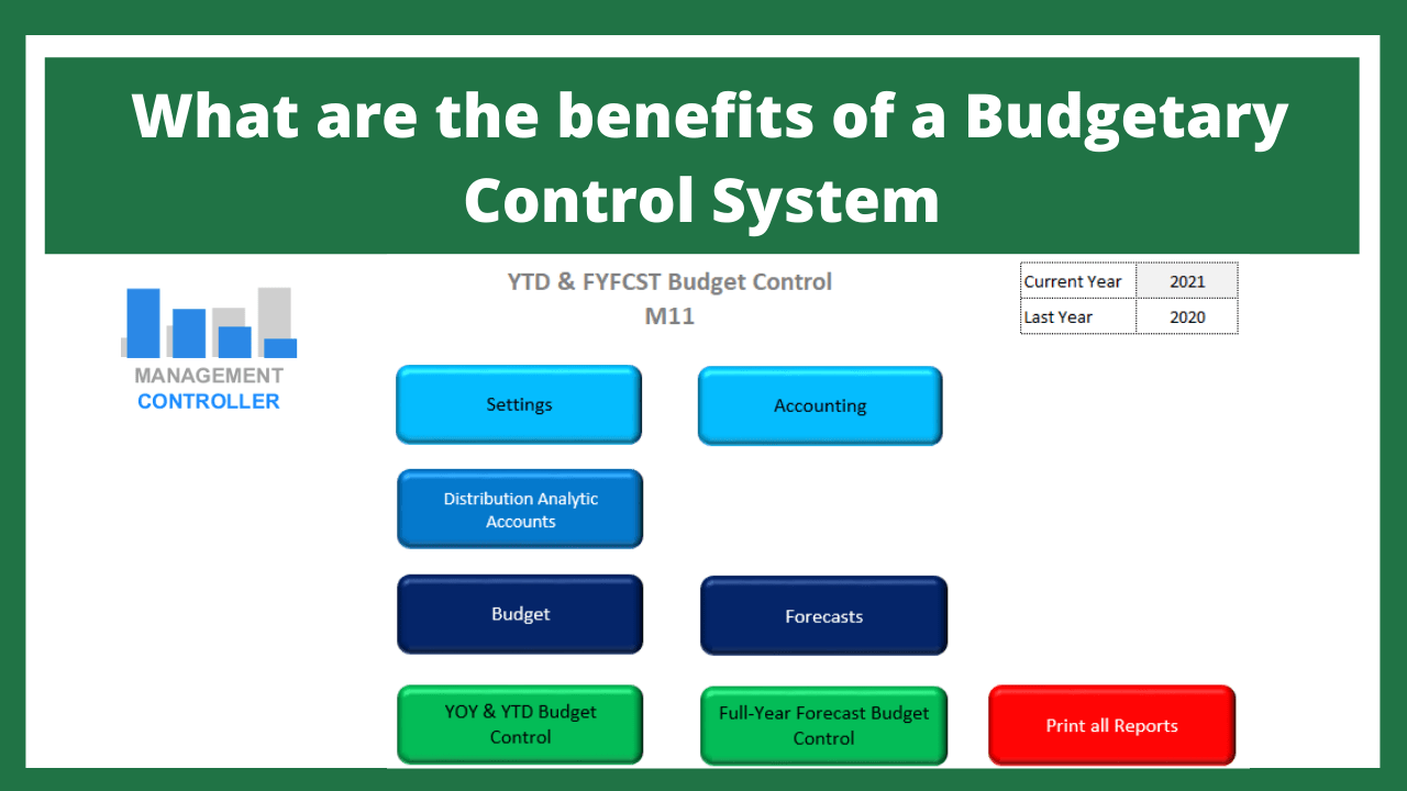 What are the benefits of a Budgetary Control System